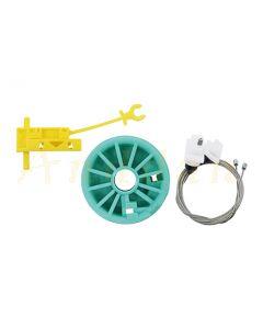 Kit reparatie macara geam electric Fiat Ducato/ Renault Trafic/ Opel Vivaro/ Peugeot Boxer 96-06 (dreapta-fata)