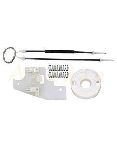 Kit reparatie macara geam electric Peugeot 407 04-10 (stanga-fata)