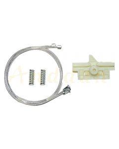 Kit reparatie macara geam electric  Opel Corsa D 06-11 (stanga-spate)