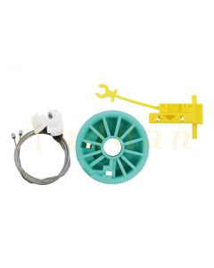 Kit reparatie macara geam electric Fiat Ducato/ Renault Trafic/ Opel Vivaro/ Peugeot Boxer 96-06 (stanga-fata)